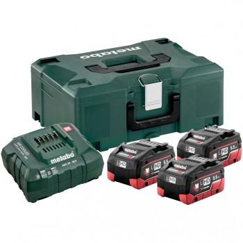 Set básico de 3 baterías lihd 5,5 ah + cargador asc 30-36 + maletín