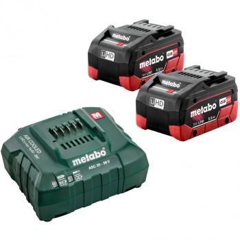 Set básico de 2 baterías lihd 5,5 ah + cargador asc 30-36