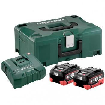 Set básico de 2 baterías lihd 8,0 ah + cargador asc ultra + maletín