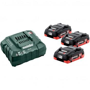 Set básico de 3 baterías lihd 4,0 ah + cargador asc 55