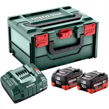 Set básico de 2 baterías lihd 10,0 ah + cargador asc 145 + maletín