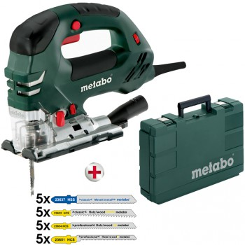 Pack sierra de calar pendular electrónica metabo mod. steb 140 plus + surtido de 20 hojas
