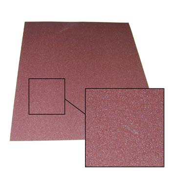 Hoja abrasiva con soporte de tela flexible (j) y mineral de óxido de aluminio