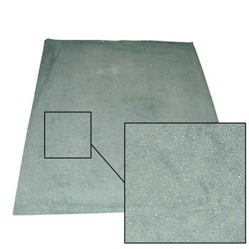 Hoja abrasiva (lija al agua) con soporte de papel muy fino (a) ó (c) y mineral abrasivo de carburo de silicio