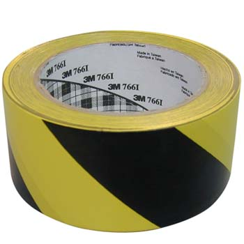 Cinta adhesiva de vinilo amarilla-negra