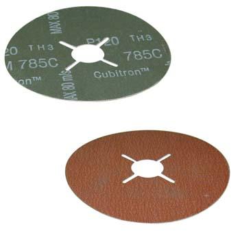 Disco abrasivo con soporte de fibra y mineral abrasivo de óxido aluminio y lubricante incorporado