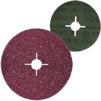 Disco abrasivo con soporte de fibra y mineral cubitron™ ii ref. 982c