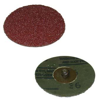 Disco roloc™ abrasivo con soporte de fibra y mineral cubitrón