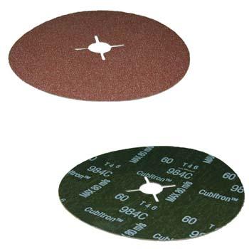 Disco abrasivo con soporte de fibra y mineral abrasivo cubitrón™