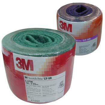 Hoja de fibra scotch-brite™ con mineral óxido de aluminio (a)