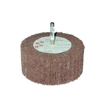 Cepillo scotch-brite™ de láminas de fibra y eje de 6 mm