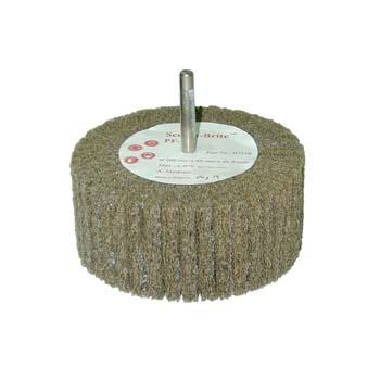 Cepillo scotch-brite™ de láminas de fibra cp y eje de 6 mm