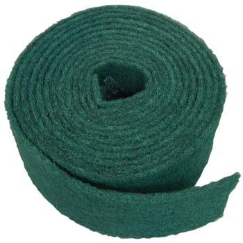 Rollo scotch-brite™ de fibra verde gruesa con mineral de óxido de aluminio (125 mm)