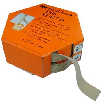 Sistema autoadhesivo de cierre y fijación dual lock™ thin sj 457 d