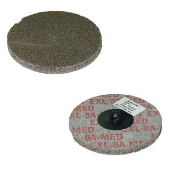 Disco scotch-brite™ de fibra exl compacta, con sistema de fijación roloc™