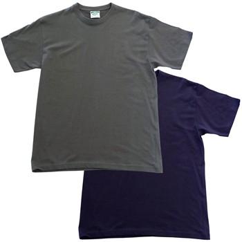 Camiseta de algodón de manga corta y cuello redondo mod. 3031