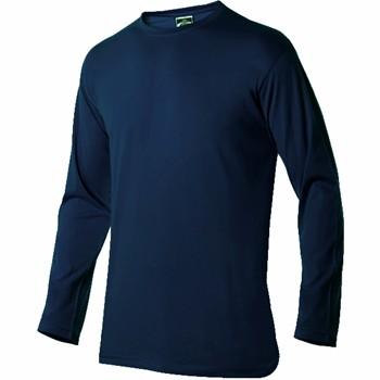 Camiseta de algodón de manga larga y cuello redondo mod. 3032