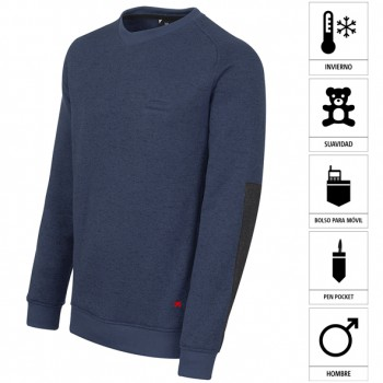 Jersey jaspeado regular fit de cuello redondo mod. 04823