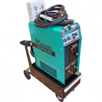 Máquina sinérgica pulsada ref. high pulse 354 k + enfriador de agua ref. wk 300 + carro ref. tw 112 + antorcha tedac ref. sbt 504 w + accesorios