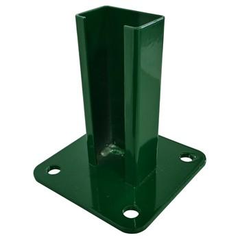 Base de acero para postes hercules® de color verde (ral 6005)
