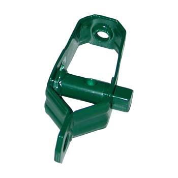 Tensor de chapa zincado y pintado verde.