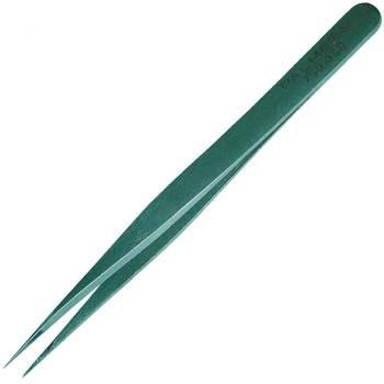 Pinza con punta de aguja para electrónica