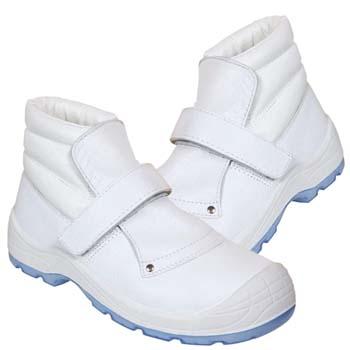 Botas de protección panter mod. fragua totale velcro s2 blanca