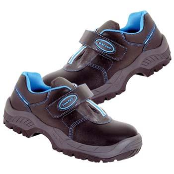 Zapatos de protección panter mod. diamante velcro plus s3 negro