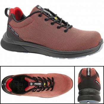 Zapatos de seguridad panter mod. forza sporty s3 rojo esd