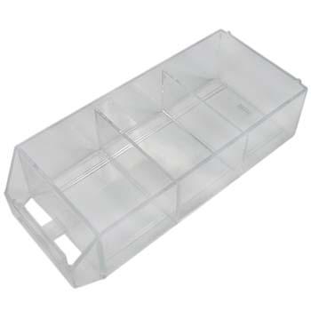 Cajón transparente con compartimentos para estantes clasificadores