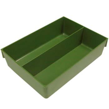 Cajón verde con compartimentos para combibox