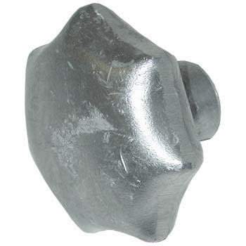 Pomo de aluminio din 6336-a