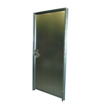 Puerta 2 chapa galv. sin ventilacion