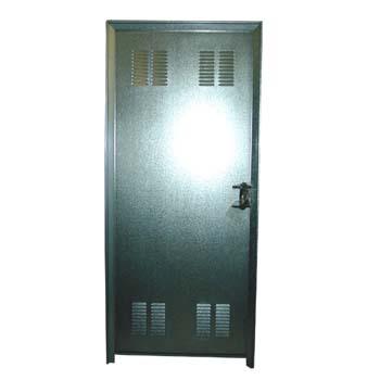 Puerta 2 chapa galv. con ventilacion