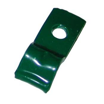 Uña pintada verde sin tornillo.