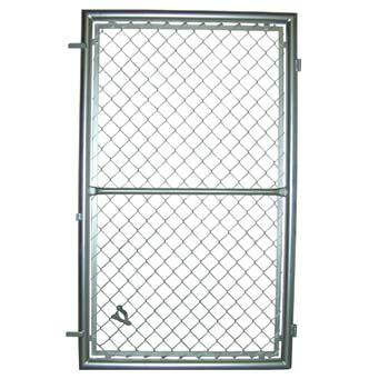 Puerta de enrejado de simple torsión galvanizada para utilizar con candado.