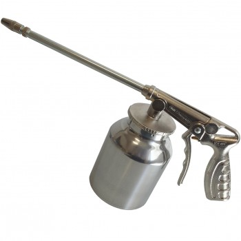 Pistola para petrolear con depósito de aluminio