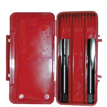 Machos de mano, rosca gas (bspf) din 5157, dos piezas ref. e119
