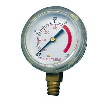 Manómetro para manorreductores de acetileno (presión de la botella)