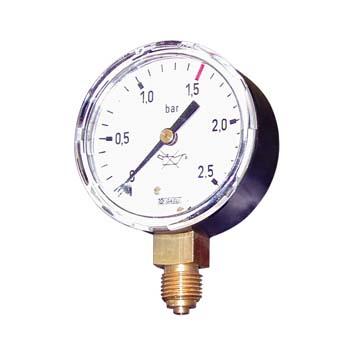 Manómetro para manorreductores de acetileno (presión de salida)