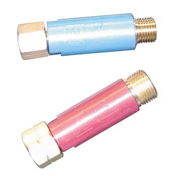 Válvula de seguridad para oxigeno y acetileno en sopletes universales
