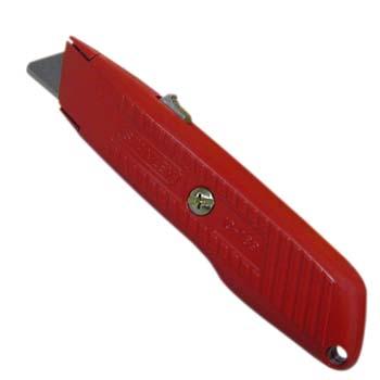 Cuchillo metálico autoretráctil