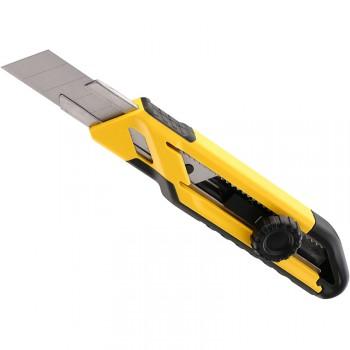 Cutter con guía metálica, rueda de bloqueo y hoja de 18 mm ref. stht10268-0