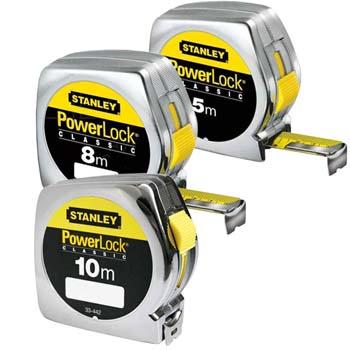 Flexómetro modelo powerlock con freno y hoja de 25 mm