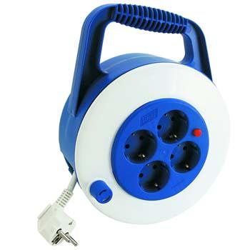 Enrollador de cable eléctrico con 4 bases y termostato