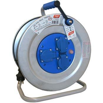 Enrollador de cable eléctrico con 3 bases con tapa y termostato