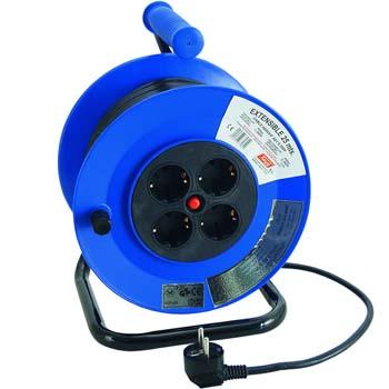 Enrollador de cable eléctrico con 4 bases, termostato y soporte metálico