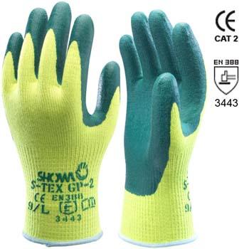 Guantes de poliéster y fibras hagane con recubrimiento de nitrilo mod. s-tex gp-2