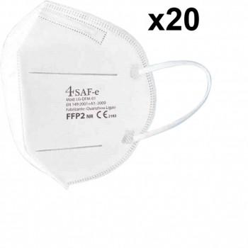 Mascarilla de protección (ffp2) con sujeción a las orejas (caja 20 unidades) ref. lg-dfm-01