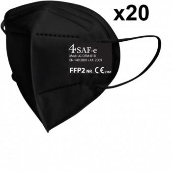 Mascarilla de protección (ffp2) con sujeción a las orejas (caja 20 unidades) ref. lg-dfm-01b